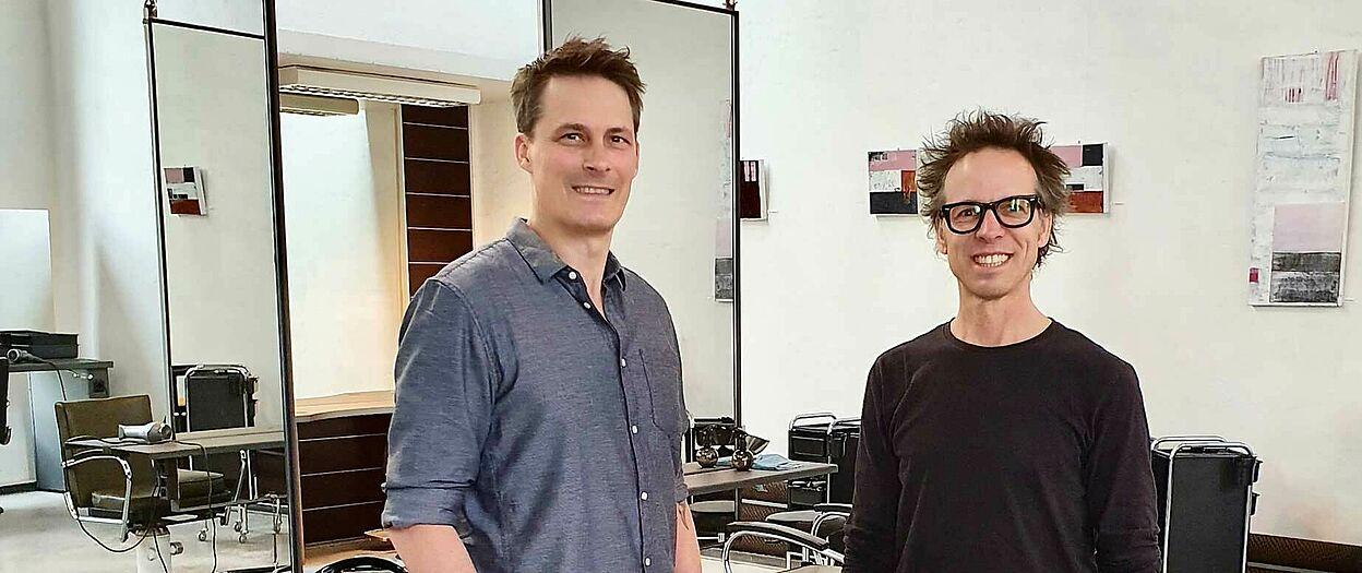Die beiden Geschäftsführer Sascha Vollmer (links) und Silvio Christal